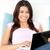 gyönyörű · ázsiai · nő · laptopot · használ · kanapé · nappali - stock fotó © wavebreak_media