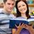 heldere · paar · studenten · lezing · boek · boekenwinkel - stockfoto © wavebreak_media