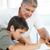 ojciec · pomoc · syn · praca · domowa · człowiek · młody · chłopak - zdjęcia stock © wavebreak_media