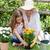 nagymama · lány · ültet · virágok · kert · kertészkedés - stock fotó © wavebreak_media