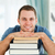 mannelijke · student · materiaal · glimlach · gezicht · boeken - stockfoto © wavebreak_media