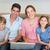 ebeveyn · çocuklar · dizüstü · bilgisayar · kanepe · portre · oturma - stok fotoğraf © wavebreak_media