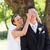 bride covering eyes of groom in garden stock photo © wavebreak_media