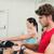 man · roeien · machine · gymnasium · gezondheid - stockfoto © wavebreak_media