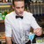 barman · drinken · bar · counter · gelukkig · shirt - stockfoto © wavebreak_media