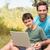 vader · zoon · platteland · computer · man · gelukkig - stockfoto © wavebreak_media