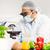 食品 · 科学者 · 顕微鏡 · 研究 · 大学 · 男 - ストックフォト © wavebreak_media