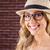 великолепный · блондинка · позируют · портрет · красный - Сток-фото © wavebreak_media