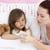 moeder · ziek · temperatuur · bed · vrouw - stockfoto © wavebreak_media