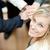 alto · vista · manos · junto · mujer · de · negocios · sonriendo - foto stock © wavebreak_media