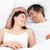 romantikus · szerelmespár · átkarol · ágy · otthon · szeretet - stock fotó © wavebreak_media