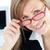 очаровательный · деловая · женщина · улыбаясь · камеры · сидят · служба - Сток-фото © wavebreak_media