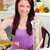 Bright woman eating her healthy meal at home in the kitchen stock photo © wavebreak_media