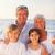 portret · szczęśliwą · rodzinę · plaży · niebo · wody · uśmiech - zdjęcia stock © wavebreak_media