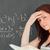 femme · résoudre · équation · classe · école - photo stock © wavebreak_media