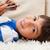 kicsi · fiú · szőnyeg · mobiltelefon · számítógép · internet - stock fotó © wavebreak_media