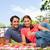 dos · sonriendo · amigos · mirando · adelante · mantener - foto stock © wavebreak_media
