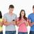 groep · mensen · telefoons · stand · naast · ander - stockfoto © wavebreak_media