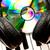dysk · muzyki · fortepian · klawiatury · zabawy · czarny - zdjęcia stock © wavebreak_media