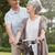 idős · pár · bicikli · park · portré · nő · fű - stock fotó © wavebreak_media