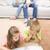 anya · gyerekek · olvas · mesekönyv · ágy · ház - stock fotó © wavebreak_media
