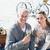 couple enjoying white wine on picnic at the beach smiling at cam stock photo © wavebreak_media