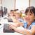 computer · classe · femminile · ragazza · bambini - foto d'archivio © wavebreak_media