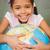 aranyos · kislány · tart · földgömb · portré · lány - stock fotó © wavebreak_media