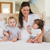 happy mother with cute babies boy and girl stock photo © wavebreak_media