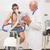 férfi · fitnessz · teszt · testmozgás · bicikli · orvosi - stock fotó © wavebreak_media