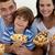 aile · yeme · pizza · mutlu · genç · lezzetli - stok fotoğraf © wavebreak_media
