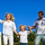 positief · kaukasisch · familie · spelen · tuin · blauwe · hemel - stockfoto © wavebreak_media