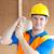 молодые · мужчины · работник · желтый · шлема - Сток-фото © wavebreak_media