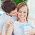 figyelmes · férfi · csók · barátnő · ajándék · mindkettő - stock fotó © wavebreak_media