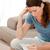 концентрированный · женщину · глядя · сидят · Жилье - Сток-фото © wavebreak_media