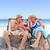 mature couple sitting on deck chairs stock photo © wavebreak_media
