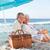 gelukkig · paar · liefde · zomer · picknick · jonge - stockfoto © wavebreak_media