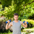 hombre · guapo · entrenamiento · parque · modelo · verano · verde - foto stock © wavebreak_media