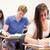 Studenten · Zuordnung · Klassenzimmer · Frau · glücklich · Studenten - stock foto © wavebreak_media