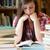 nő · könyvek · könyvtár · könyv · munka · haj - stock fotó © wavebreak_media