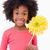 portret · uśmiechnięty · dziewczyna · kwiat · biały - zdjęcia stock © wavebreak_media