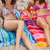 mulheres · jovens · sol · risonho · juntos · praia - foto stock © wavebreak_media
