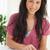 uśmiechnięty · brunetka · student · Kalkulator · praca · domowa · pokój - zdjęcia stock © wavebreak_media