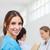 uśmiechnięta · kobieta · stałego · korytarzu · pacjenta · lekarza · medycznych - zdjęcia stock © wavebreak_media