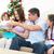 gelukkig · ouders · opening · samen · sofa · familie - stockfoto © wavebreak_media
