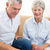 senior couple sitting on sofa playing chess stock photo © wavebreak_media