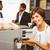 pretty barista making cup of coffee stock photo © wavebreak_media