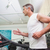 fit man working out on treadmill stock photo © wavebreak_media
