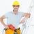 capacete · de · segurança · três · de · um · tipo · mão · madeira - foto stock © wavebreak_media
