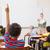tanár · beszél · alapfokú · iskolás · osztályterem · iskola - stock fotó © wavebreak_media